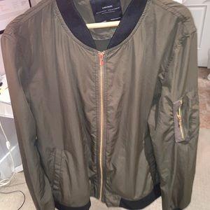 Zara - Green bomber jacket